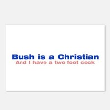 Bush is a Christian Postcards (Package of 8)