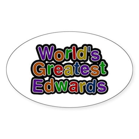 World's Greatest Edwards Oval Sticker 50 Pack