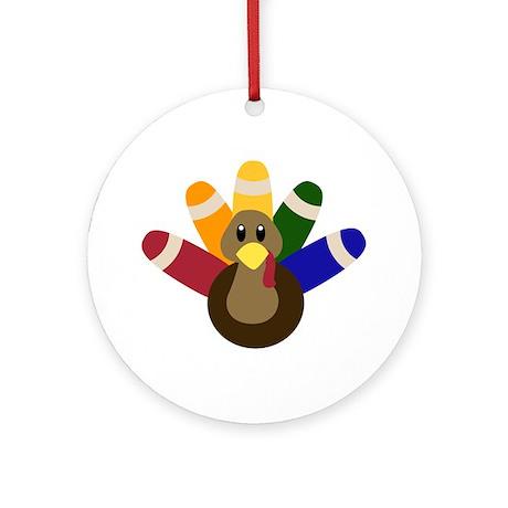 Tommy Turkey Ornament (Round)