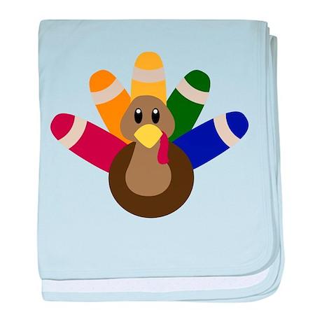 Tommy Turkey baby blanket