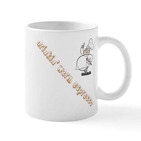 Warm espresso mug