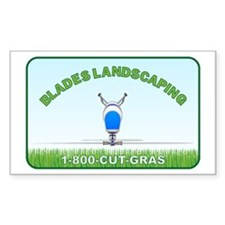 Blade's Landscaping Decal