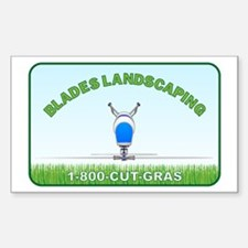 Blade's Landscaping Sticker (Rectangle)