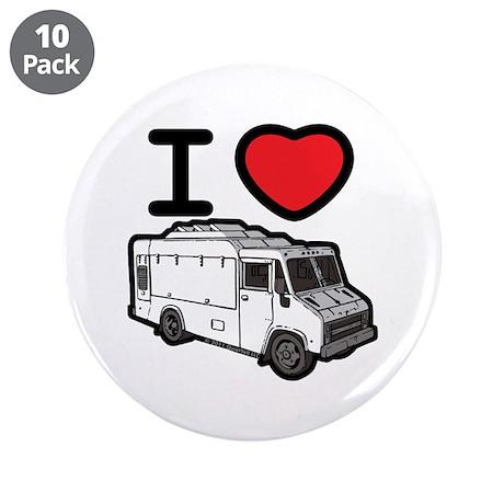 "I Love Food Trucks! 3.5"" Button (10 pack)"