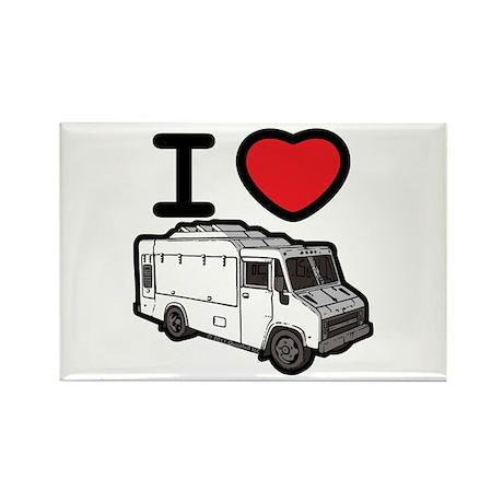 I Love Food Trucks! Rectangle Magnet