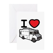 I Love Food Trucks! Greeting Card