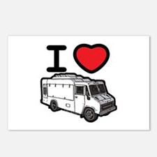 I Love Food Trucks! Postcards (Package of 8)