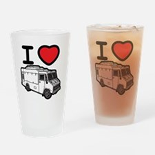 I Love Food Trucks! Drinking Glass