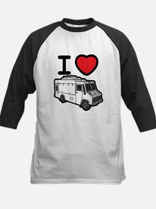 I Love Food Trucks! Kids Baseball Jersey