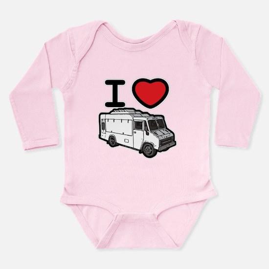 I Love Food Trucks! Long Sleeve Infant Bodysuit