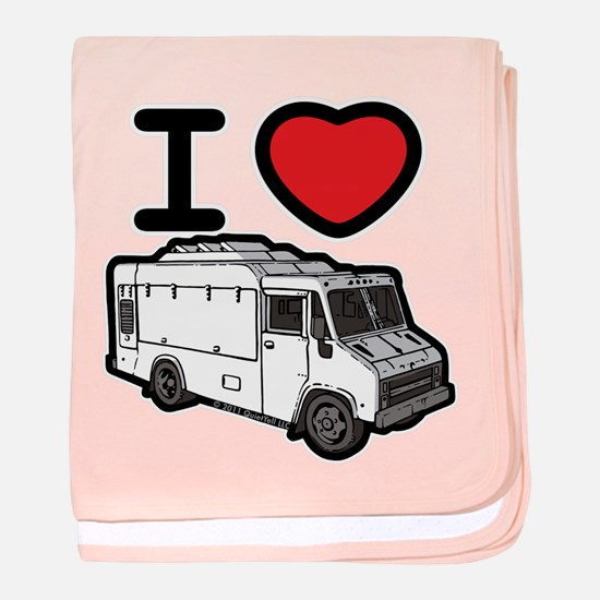 I Love Food Trucks! baby blanket