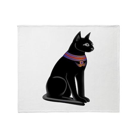 Egyptian Cat Goddess Bastet Throw Blanket