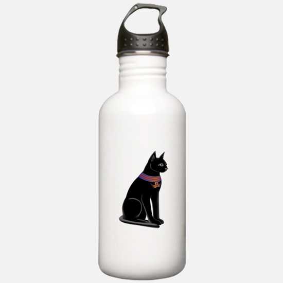 Egyptian Cat Goddess Bastet Sports Water Bottle