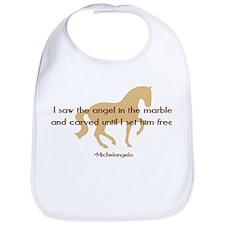 Michelangelo angel sayings - horse Bib