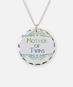 mother of twins decorated col Necklace