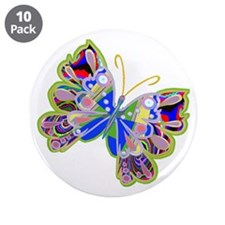 """Cosmic Butterfly /3.5"""" Button (10 pack)"""