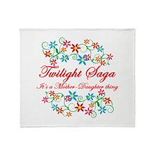 Twilight Mom Daughter Throw Blanket