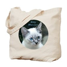 Blue Eyed Kitten - Tote Bag