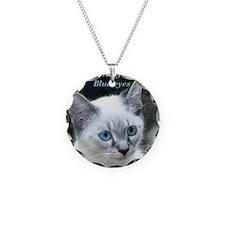 Blue Eyed Kitten - Necklace