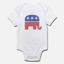 Old Republican Elephant Infant Bodysuit