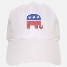 Old Republican Elephant Baseball Baseball Cap