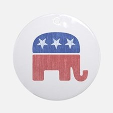 Old Republican Elephant Ornament (Round)