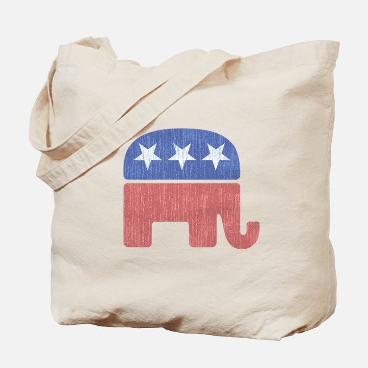 Old Republican Elephant Tote Bag