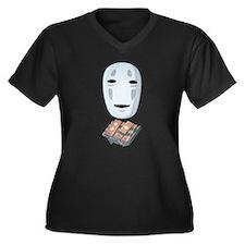 Unique Away Women's Plus Size V-Neck Dark T-Shirt
