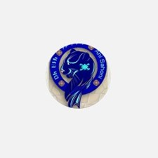 Blue Holly Clan Mini Button