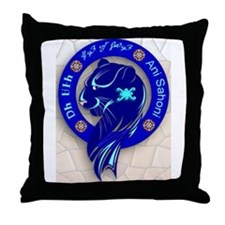 Blue Holly Clan Throw Pillow