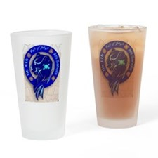 Blue Holly Clan Drinking Glass