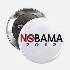 """NObama 2012, Anti-Obama 2.25"""" Button"""