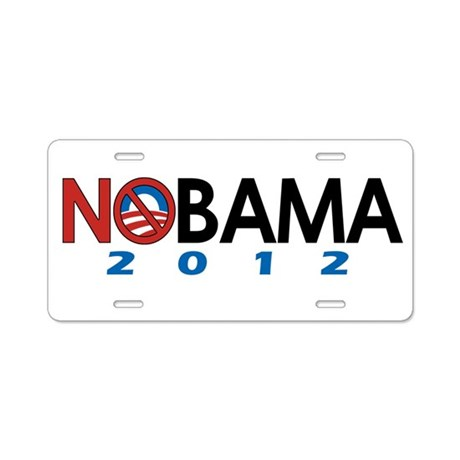 NObama 2012, Anti-Obama Aluminum License Plate