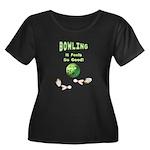 Bowling Feels Good Women's Plus Size Scoop Neck Da