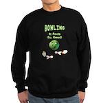 Bowling Feels Good Sweatshirt (dark)