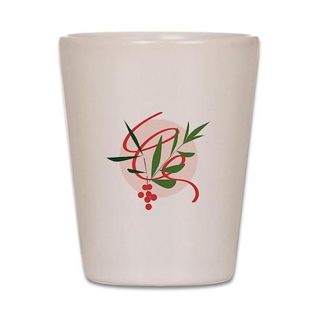 Holiday Mistletoe Shot Glass