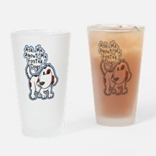 Ask Me About (Dogs) Drinking Glass