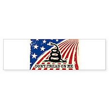 Dont Tread on Me American Fla Bumper Bumper Sticker