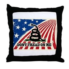 Dont Tread on Me American Fla Throw Pillow