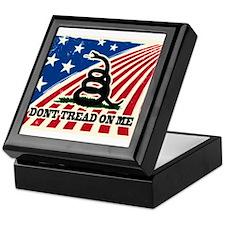 Dont Tread on Me American Fla Keepsake Box