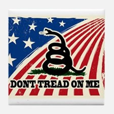 Dont Tread on Me American Fla Tile Coaster