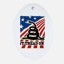 Dont Tread on Me American Fla Ornament (Oval)