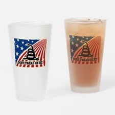 Dont Tread on Me American Fla Drinking Glass