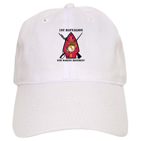 1st Battalion - 8th Marines with Text Cap