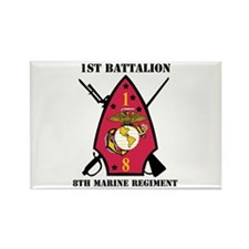 1st Battalion - 8th Marines with Text Rectangle Ma