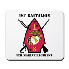 1st Battalion - 8th Marines with Text Mousepad