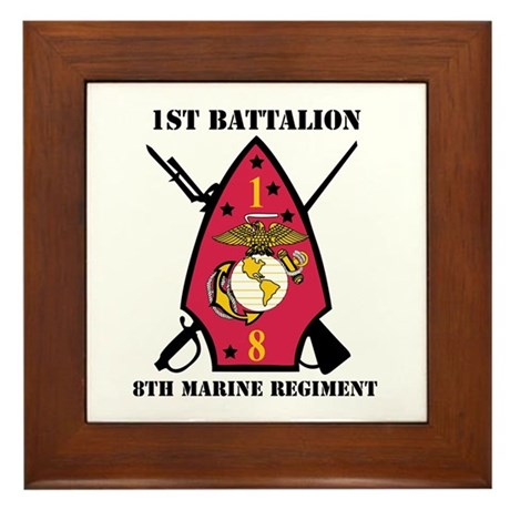1st Battalion - 8th Marines with Text Framed Tile