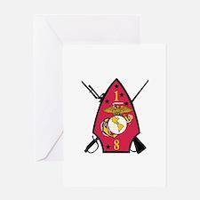 1st Battalion - 8th Marines Greeting Card