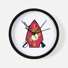 1st Battalion - 8th Marines Wall Clock