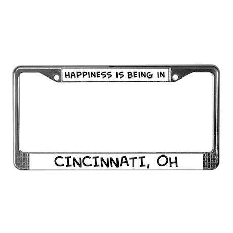 Happiness is Cincinnati License Plate Frame